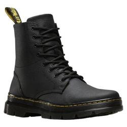 Dr. Martens Combs 8-Eye Boot Black Waxy Coated Canvas