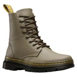 Dr. Martens Combs 8-Eye Boot Mid Olive Waxy Coated Canvas - Thumbnail 0 ...