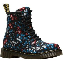 Children's Dr. Martens Delaney 8 Eye Side Zip Boot - Junior Kelly Floral Print T Canvas