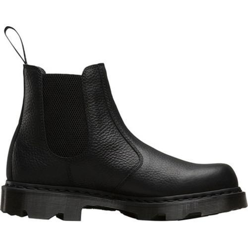 ... Dr. Martens Howden Chelsea Work Boot Black Industrial Bear Tumbled  Leather ...