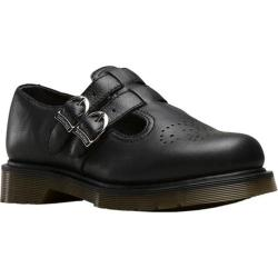 Women's Dr. Martens 8065 Double Strap Mary Jane DML Black Virginia Nappa Leather