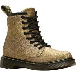 Children's Dr. Martens Delaney 8 Eye Side Zip Boot - Junior Gold Multi Glitter PU