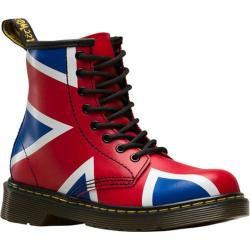 Children's Dr. Martens Delaney 8 Eye Side Zip Boot - Junior Red T Lamper PU Coated Leather