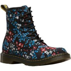 Children's Dr. Martens Delaney 8 Eye Side Zip Boot - Youth Kelly Floral Print T Canvas