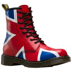 Children's Dr. Martens Delaney 8 Eye Side Zip Boot - Youth Red T Lamper PU Coated Leather