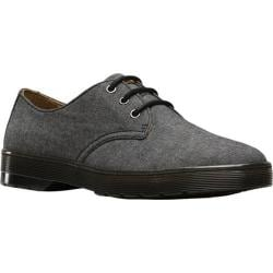 Men's Dr. Martens Delray 3 Eye Shoe Black Chambray Twill