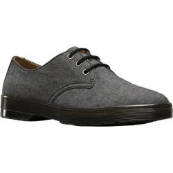 Men's Dr. Martens Delray 3 Eye Shoe Black Chambray Twill