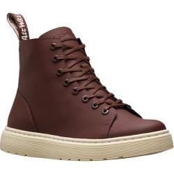 Dr. Martens Talib 8 Eye Raw Boot Old Oxblood Ajax Embossed/PU Coated Split Leather