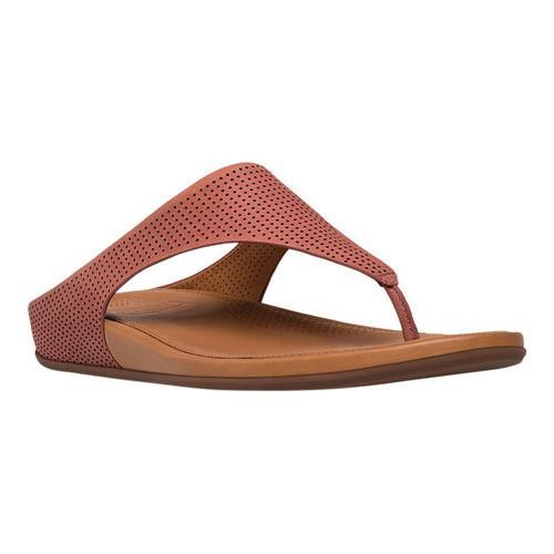 135a9f62b2f83 Shop Women s FitFlop Banda Thong Sandal Rosy Sand Perforated Leather - Free  Shipping Today - Overstock - 16995530