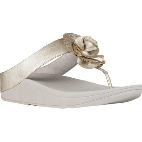 3345765a491bec Shop Women s FitFlop Florrie Toe Post Sandal Pale Gold Soft Metallic  Imi-Leather - Free Shipping On Orders Over  45 - Overstock - 16995574