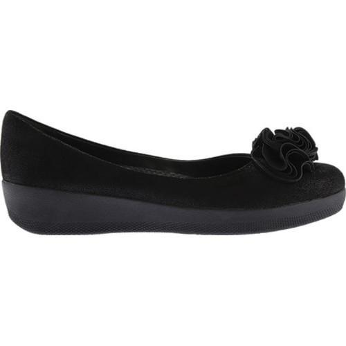 f0cc2eaca215 ... Thumbnail Women  x27 s FitFlop Florrie Superballerina Imi-Leather Flat  Black Glimmer Shimmersuede ...