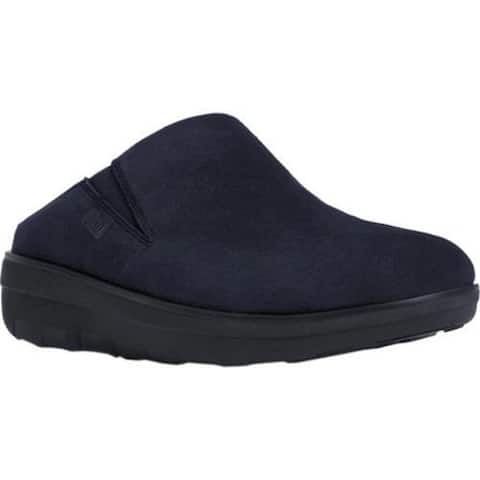 Women's FitFlop Loaff Clog Supernavy Suede