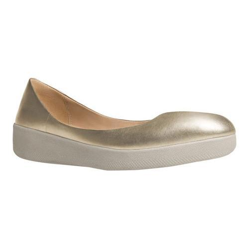 8c06b8a7941f Shop Women s FitFlop Superballerina Ballet Flat Pale Gold Leather - Free  Shipping Today - Overstock - 16995642