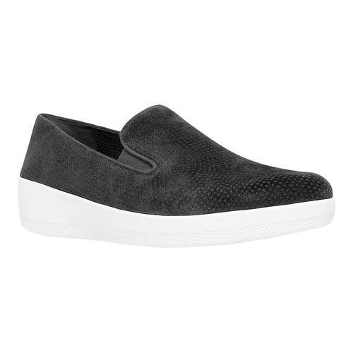 8f47f83374f999 Shop Women s FitFlop Superskate Loafer Black Perforated Nubuck - Free  Shipping Today - Overstock - 16995652