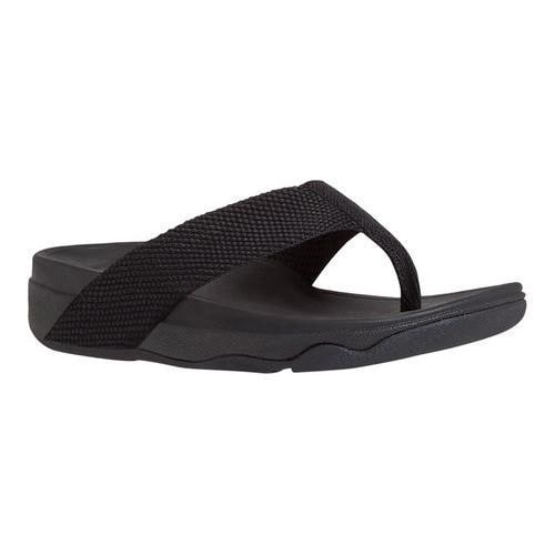 9d91feba9 Shop Women s FitFlop Surfa Thong Sandal Black Webbing - Free Shipping Today  - Overstock - 16995663