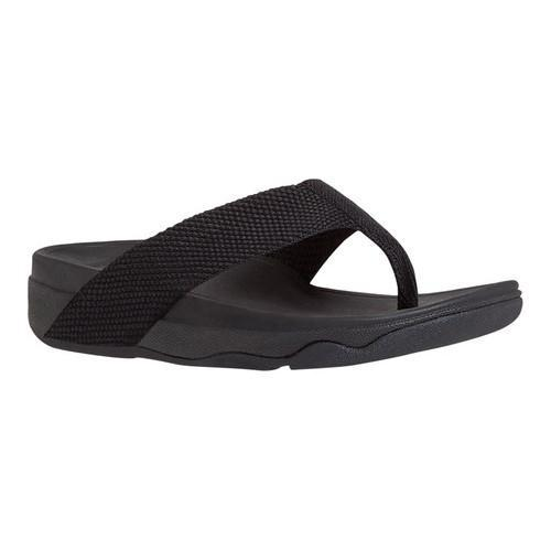 a508b79015ff Shop Women s FitFlop Surfa Thong Sandal Black Webbing - Free Shipping Today  - Overstock - 16995663