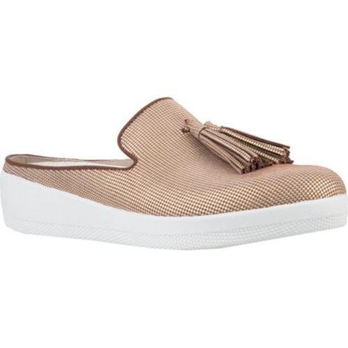 9ad4a198d566e9 Shop Women s FitFlop Tassel Superskate Mule Pale Gold Houndstooth Foil  Print Suede - Free Shipping Today - Overstock - 16995674