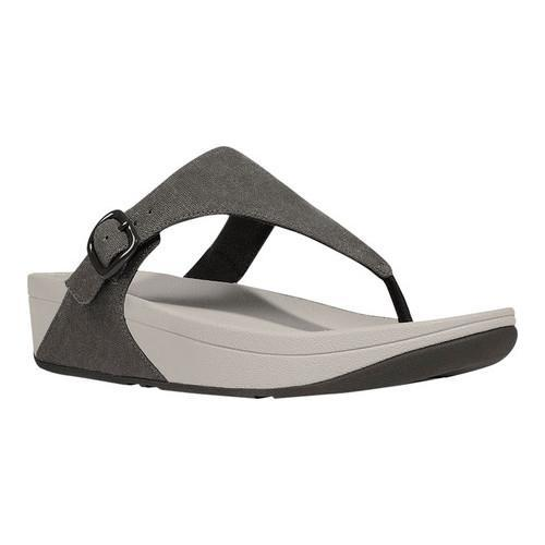 30bc78a06403 Shop Women s FitFlop The Skinny Thong Sandal Black Canvas - Free ...