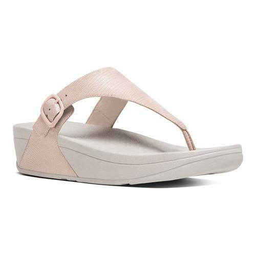 9b4cfd18557d Shop Women s FitFlop The Skinny Thong Sandal Nude Pink Lizard Print Suede - Free  Shipping On Orders Over  45 - Overstock - 16995682