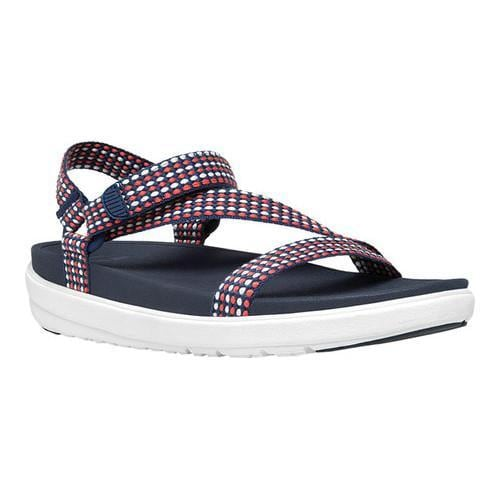 684cc4197 Shop Women s FitFlop Z-Strap Active Wedge Sandal Neon Blush Midnight Canvas  - Free Shipping Today - Overstock - 16995699