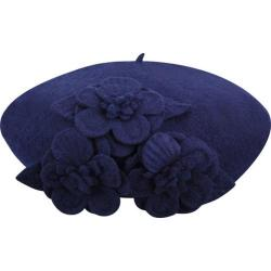 Women's Betmar Flower Beret Navy