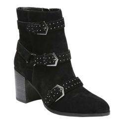Women's Fergie Footwear Blair Studded Ankle Boot Black Cow Suede
