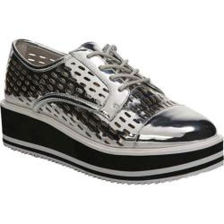 Women's Fergie Footwear Dolly Perforated Platform Oxford Argento PU
