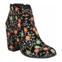 Women's Fergie Footwear Tesla Bootie Black Nevea Fabric