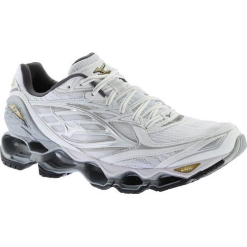uk availability 42429 14187 Shop Men s Mizuno Wave Prophecy 6 Running Shoe White Silver Gold - Free  Shipping Today - Overstock - 17009222