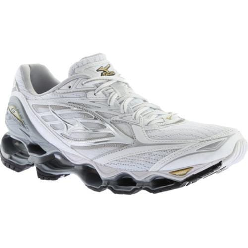 Shop Women s Mizuno Wave Prophecy 6 Running Shoe White Silver Gold - Free  Shipping Today - Overstock - 17009224 212cd308ff