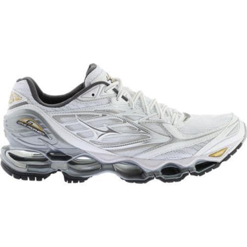 promo code bd476 23b3c ... Thumbnail Men  x27 s Mizuno Wave Prophecy 6 Running Shoe White Silver   ...