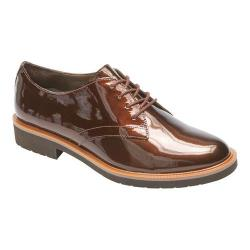 Women's Rockport Total Motion Abelle Oxford Bronze Pearl Patent