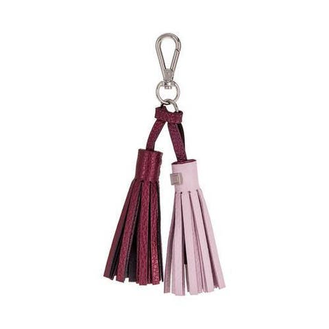 Women's Lodis Sara Tassel Key Fob with Charging Cable Iced Violet/Beet Trim
