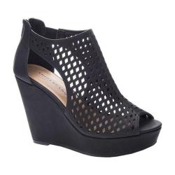 Women's Chinese Laundry Indie Wedge Bootie Black Oil Synthetic