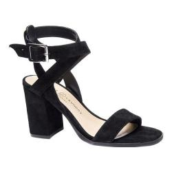 Women's Chinese Laundry Sitara Ankle Strap Sandal Black Kid Suede