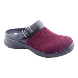 Women's Drew Savannah Clog Burgundy Wavy Stretch (More options available)