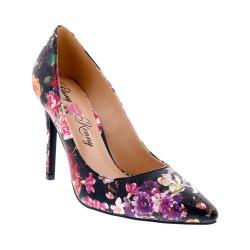 Women's Penny Loves Kenny Opus Metallic Floral Pointed Toe Pump Black Metallic Floral Polyurethane
