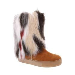 Women's Penny Loves Kenny Airbrush Fur Boot Tan Microsuede/Multi Faux Fur