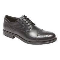 Men's Rockport Total Motion Cap Toe Brogue Black Leather