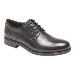 Men's Rockport Total Motion Plain Toe Oxford Black Leather