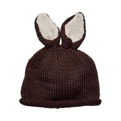 Children's San Diego Hat Company Bunny Ears Knit Cap KNK3520 Brown