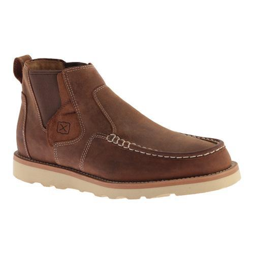 Men's Twisted X Boots MCA0013 Casual Slip On Oiled Saddle Leather