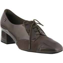 Women's Spring Step Hortense Oxford Gray Synthetic Patent/Suede