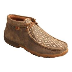 Women's Twisted X Boots Driving Moc Chukka Bomber/Tan Leather