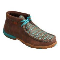 Women's Twisted X Boots Driving Moc Chukka Brown/Turquoise Leather