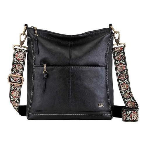 f33ddb5cfaf8 Thumbnail Women  x27 s THE SAK Lucia Crossbody Bag Black Floral Strap ...