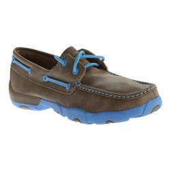 Men's Twisted X Boots MDM0028 Driving Moc Bomber/Neon Blue Leather