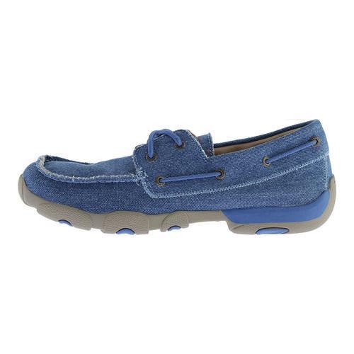 ... Men's Twisted X Boots MDM0052 Boat Shoe Denim Canvas