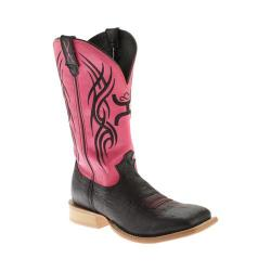 Men's Twisted X Boots MHY0005 Hooey Black Shoulder/Neon Pink