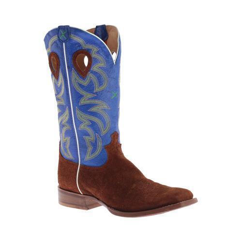Men's Twisted X Boots MRSL034 Gold Buckle Cowboy Boot Cognac Hippo/